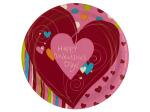 8 pk happy heart swirl plates 8 3/4 inch