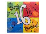 16th Birthday Cake Celebration Napkins Set