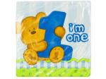 Boy's 1st Birthday Teddy Bear Party Napkins