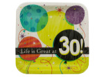 Life is Great at 30 Square Dinner Plates Set
