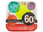 Life is Great at 60 Square Dinner Plates Set