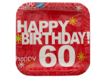 Time to Party! '60' Square Luncheon Plates Set