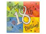 Happy 18th Birthday Napkins Set