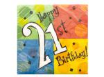 Happy 21st Birthday Napkins Set
