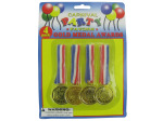 Gold medal party favor awards