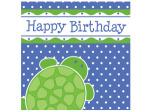 Happy Birthday Turtle Lunch Napkins Set