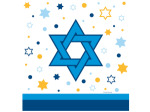Stars of Hannukah Plastic Tablecover