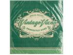 Green Vintage Vixen Birthday Beverage Napkins