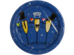 Happy New Year Champagne Toast Party Plates