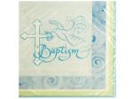 Blue Faithful Dove Baptism Lunch Napkins