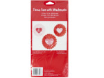 Valentine's Day Tissue Fan Hanging Decorations