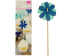 Blue Flower Party Picks