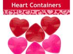 Mini Plastic Heart Containers