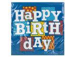 Happy Birthday Blocks Lunch Napkins Set