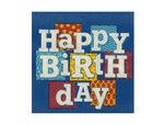 Happy Birthday Blocks Beverage Napkins Set