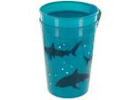 Cool Blue Shark Plastic Cups