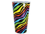 Colored Zebra Pattern Plastic Tumbler Cup