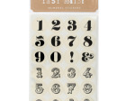 Itsy Bitsy Neutral Numeral Stickers