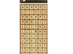 Brown Square Alphabet Stickers