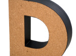 'D' Decorative Cork Board Letter