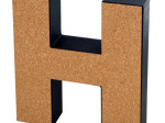 'H' Decorative Cork Board Letter