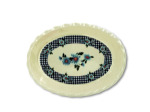 Plastic Tray with Gingham & Sunflower Design