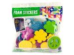 Peace & Love Glitter Foam Stickers