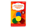 16 Pack Colorful Vinyl Magnets