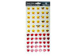 60-Pack Heart & Star Stickers