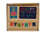 3pk happy birthday stamp set
