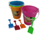 Beach pail with shovel