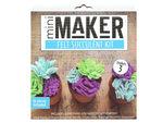 leisure arts kit mini maker blue felt succulent