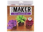 leisure arts kit mini maker multicolor felt succulent