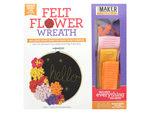 Leisure Arts Kit Mini Maker Felt Flower WreathHoop