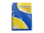 Spiral-bound notebook with 50 pages