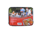 Two-section foil pans with lid, pack of 3
