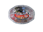 Tin foil disposable dish, pack of 5