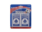 Playing cards and dice set, 7 pieces
