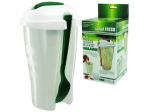 Salad Fresh Container with Separate Dressing Compartment