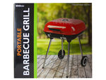Square Charcoal Barbecue Grill with Wheels