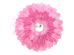 Light Pink Fabric Daisy with Jewel Set
