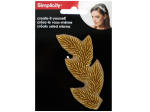 Beaded Gold Leaves Headband Accent