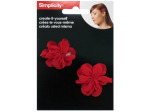 Simplicity Create it Yourself Red Fabric Flowers