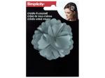 simplicity grey fabric flower headband accent