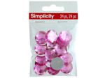 simplicity 24 pack pink circle gems