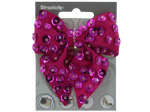 simplicity hot pink bow with sequins