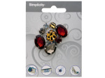 Multi-Colored & Patterned Gem Cluster Accent