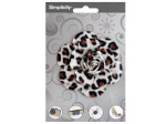 simplicty pleather leopard rose accent