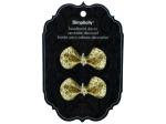 simplicity 2 piece gold sequin bow headband decor