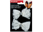 simplicity 2 pack lace bow w/jewel headband accent